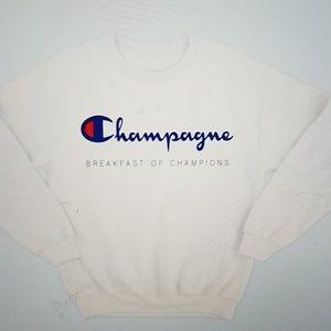 "Tops - 2 LEFT Champion ""Champagne"" sweatshirt"